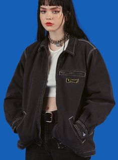 In The Style Jean Jacket Outfits Indie Outfits, Grunge Outfits, Edgy Outfits, Retro Outfits, Fashion Outfits, Alternative Outfits, Alternative Fashion Indie, Jean Jacket Outfits, Oversized Denim Jacket