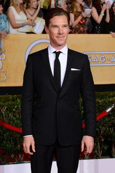 Benedict Cumberbatch Brings British Charm to the SAG Awards 2014
