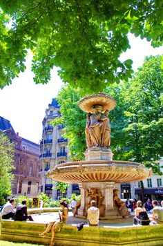 Fountain square in Paris, France
