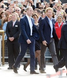 Prince William and Prince Harry opted for the smart casual look