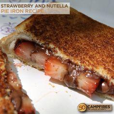 Pie Iron Strawberry and Nutella Dessert - 50 Campfires