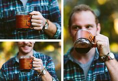 Leather it up! Coffee Sleeve for the addict.