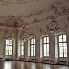 Palace in Latvia. My burgeoning collection of chandelier photos.