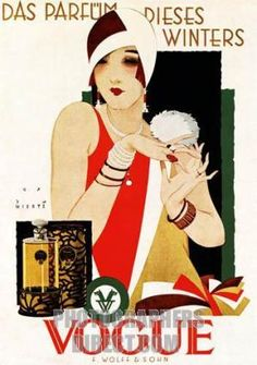 Buy online, view images and see past prices for RARE Original VOGUE Art Deco Poster Plakat WIERTZ. Invaluable is the world's largest marketplace for art, antiques, and collectibles. Vogue Vintage, Vintage Vogue Covers, Art Vintage, Vintage Ads, Retro Ads, Vintage Fashion, Old Posters, Art Deco Posters, French Posters