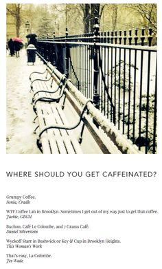 NJAL GUIDE | WHERE SHOULD YOU GET CAFFEINATED