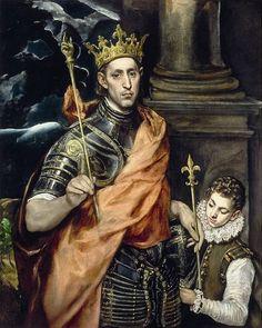 El Greco: San Luis, rey de Francia.
