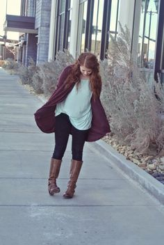 Slouchy wine sweater. Mint tunic. @necessaryclothing, Mint top, mint top outfit, mint tunic, skinny jeans, riding boots, boots, wine sweaters, sweaters, sweaters outfit, fall outfit idea,