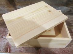 Unfinished wood box natural pine wood for by DivineRusticCreation, $20.00 https://www.etsy.com/shop/DivineRusticCreation?ref=si_shop
