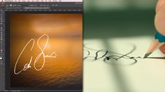 Turn your signature into your own personal watermark brush for your photos - DIY Photography