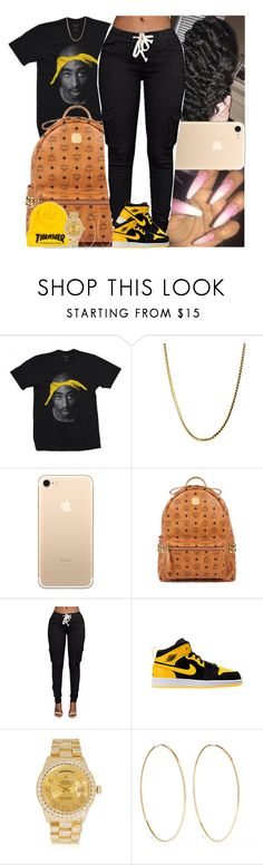 """Untitled #1347"" by msixo ❤ liked on Polyvore featuring MCM, Rolex and Magda Butrym"