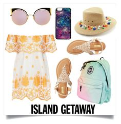 """""""Untitled #73"""" by dhanutza90baby ❤ liked on Polyvore featuring Miguelina, Qupid, Fendi and Eric Javits"""
