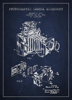 Camera Patent Drawing From 1963