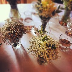 Simple flower bundles for showers and brunches are inexpensive and oh so pretty