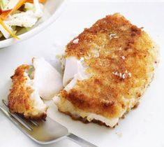 Pan-Fried Cod is the crispy, crunchy fried fish recipe that makes the perfect main course when served with French fries and an ice cold beer. This recipe can be lightened up slightly if served with a Fish Recipes Pan, Fried Cod Recipes, Slaw Recipes, Seafood Recipes, Pan Fried Fish, Baked Fish, Fish Dishes, Seafood Dishes, Battered Fish
