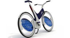Bicicletas eléctricas con paneles solares, no se trata de generar electricidad pedaleando, sino para no tener que hacerlo.