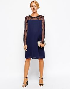 Enlarge ASOS Maternity Exclusive Swing Dress With Embellished Sleeve