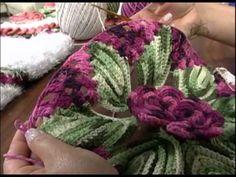 Programa Arte Brasil Tapete Laço Flores em Crochê Maria Jose 08.01.2015 - YouTube