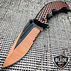 "The SOG Snarl Fixed Blade Knife was designed by Jason Brous as a ""functional fantasy"" Snarl knife that features a 9CR18MoV stainless steel blade. It's a brass knuckles/SOG mash-up. The Brous series of knives have been designed in conjunction with Jason Brous, a 10-year CNC... #blade #carry #fixed"