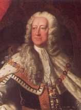 King George II (1727-1760). House of Hanover. 5th great-grandfather to Elizabeth II. Reign: 33 yrs, 4 mos, 15 days. Succeeded by son, George III.
