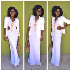 Today's Post: White on White. Another one of my favorites by Style Pantry. This white maxi is everything. I Love Fashion, Passion For Fashion, Fashion Looks, Preppy Style, Style Me, Style Pantry, Dressed To The Nines, Looks Chic, Cute Fall Outfits