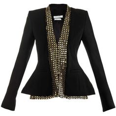 Altuzarra Altuzarra Foxtail Gold Embroidered Jacket.
