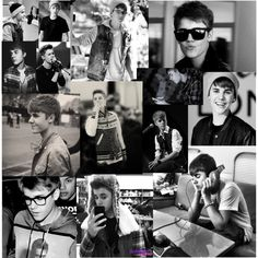 justin bieber collage tumblr black and white