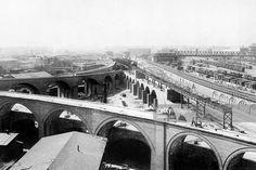 Bau des U-Bahnhofs 'Gleisdreieck'- 1900