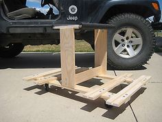 Jeep Wrangler JKU Door Holder/ Storage Cart
