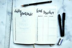 Minimalistic spread bullet journal. Quick, easy and clean!