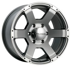 "Core Racing Ambush - Gunmetal with machined flange.  Available in 17"" and  18"". Starting at $157.99.  http://www.coreracingwheels.ca/  #truck #suv #wheel #rim"