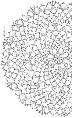 Free Crochet Doily Patterns, Crochet Doily Diagram, Crochet Circles, Crochet Chart, Crochet Motif, Crochet Designs, Crochet Dollies, Crochet Fabric, Crochet Tablecloth