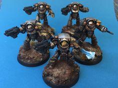 Iron Warrior Tartaros Terminators by Adam Kapturowski of 30k Sweden Facebook group