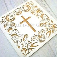 CHRISTENING LASER CUT CARDS CLA112 IVORY (QUARTZ)