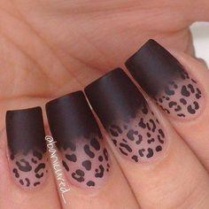 Leopard print matte color