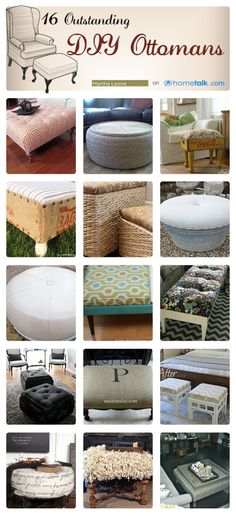 16 Outstanding {DIY} Ottomans! | curated by 'Martha Leone Design'
