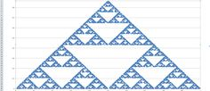 Sierpinsky triangle made by MS Excel. Math can be so easy&beautiful.