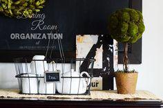 A Bowl Full of Lemons - Dining Room Organization