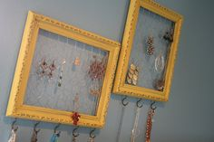 My next do-it-yourself-project--my earrings and necklaces are starting to take over my bedroom!