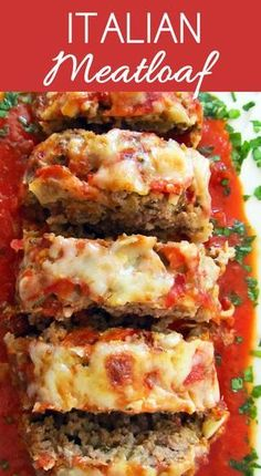 The Best Italian Meatloaf - Meat Recipes Healthy Meatloaf, Good Meatloaf Recipe, Best Meatloaf, Meatloaf Recipes, Meat Recipes, Dinner Recipes, Cooking Recipes, Healthy Recipes, Meatloaf Sauce