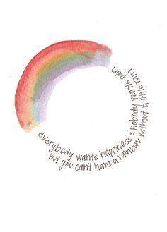 not such a huge fan of the rainbow or the shape, but the words are cool! Cute Quotes, Happy Quotes, Words Quotes, Positive Quotes, Motivational Quotes, Happiness Quotes, Moon Quotes, Inspirational Instagram Quotes, Smiling Quotes