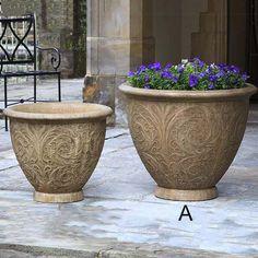 Campania International Cast Stone Arabesque Large Planter