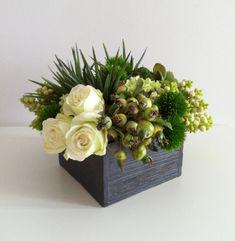 Floral Arrangement - Spring White/Green. $64.00, via Etsy.