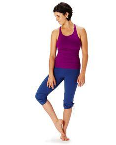 hyde yoga fall 2015   plum taylor tank & denim cropped divine drawstring   www.yogahyde.com #hydeyoga #organicyoga #yogaclothtes