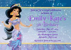 Princess jasmine free printable birthday party invitations princess jasmine aladdin birthday party by prettypaperpixels 799 stopboris Image collections