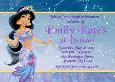 Princess Jasmine Aladdin Birthday Party by PrettyPaperPixels, $7.99