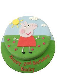 Fun in Sun Peppa Pig Birthday Cake - Egg Free and Gluten Free sponge options | Caker Street | Kids Birthday Cakes | Peppa Pig Birthday Cakes | Caker Street