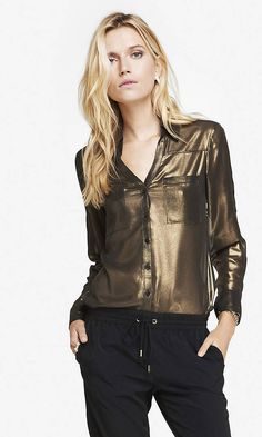 LIMITED EDITION GOLD FOIL PORTOFINO SHIRT | Express