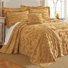 Alexandria Scroll Chenille Bedspread Collection