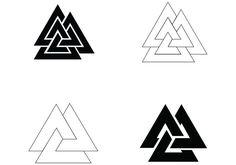 Symbol Vector 4 Simple Valknut Designs