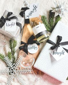 A Fabulous Fete: free calligraphy holiday tag download // printable